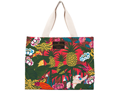 "SG Fauna & Orangutan Travel Tote Bag Local Tote Bags Chalo B029 Multi 16 3/4"" Wx 12"" H x 7 1/4"" D"