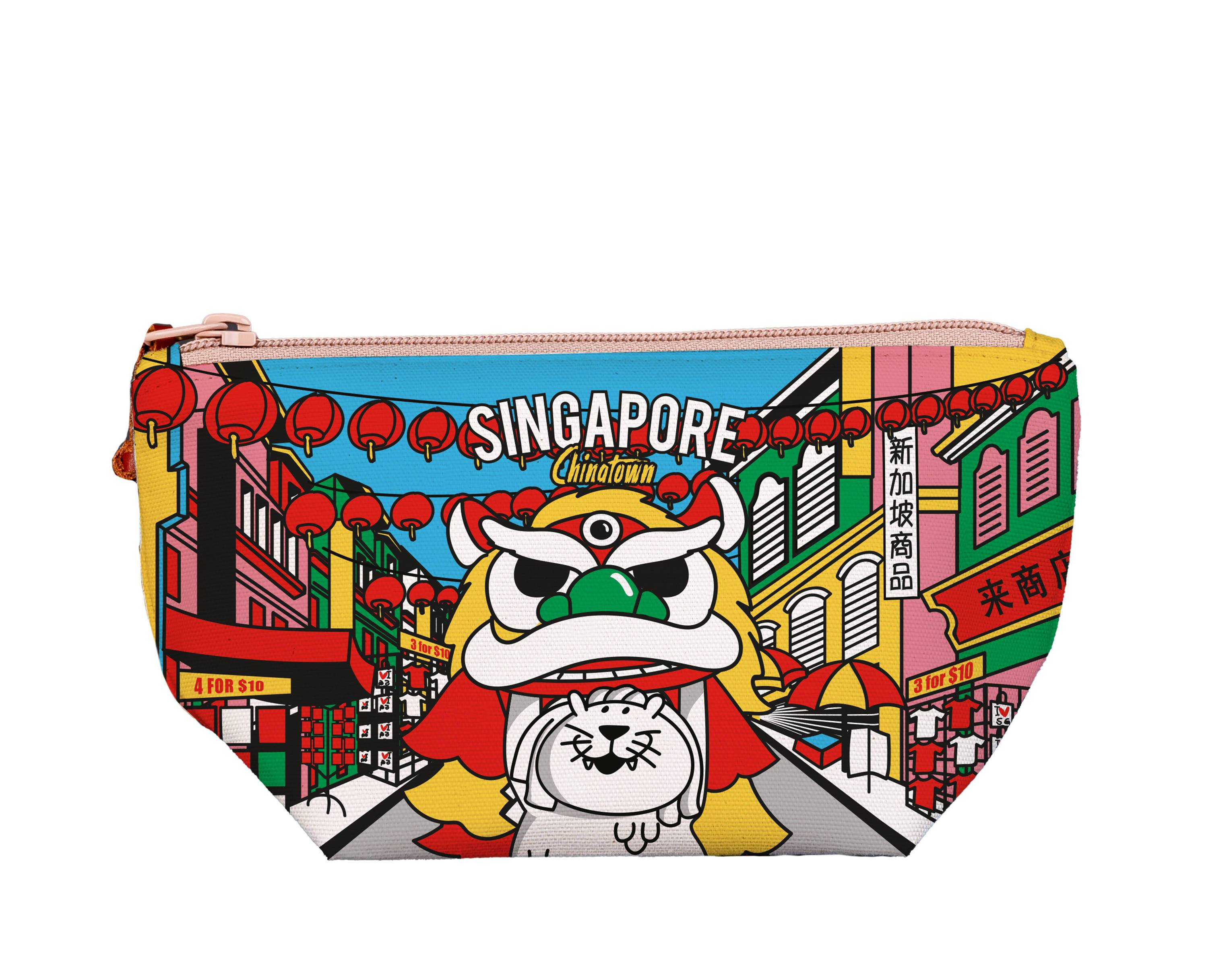 SG Merlion Dance Medium Pouch - Local Pouches - Chalo - Naiise