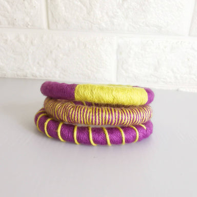 Tribeca Multi-wear Rope Necklace/Bracelet - Purple/Chartreuse - Bracelets - Playtime Rebs Studio - Naiise