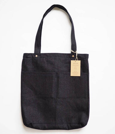 Utility Tote Bag V2 (14oz Indigo Denim) - Tote Bags - Journal Projects - Naiise