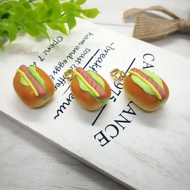 Miniature Hot Dog Bun Charm - Charms - Deli Charms - Naiise