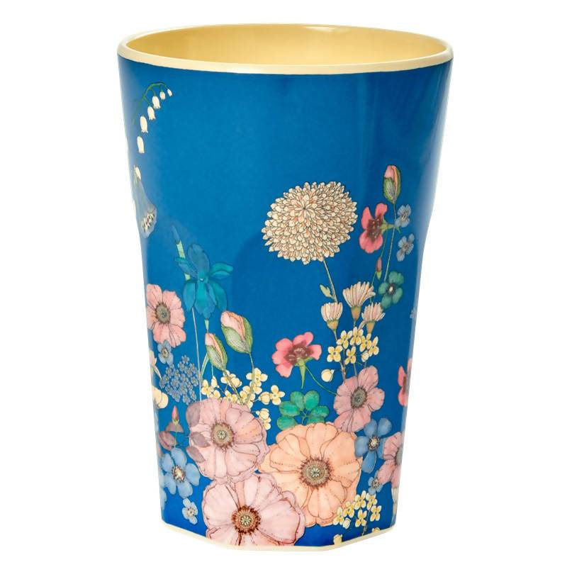 Melamine Cup with Flower Collage Print - Tall - Drinkware - The Children's Showcase - Naiise