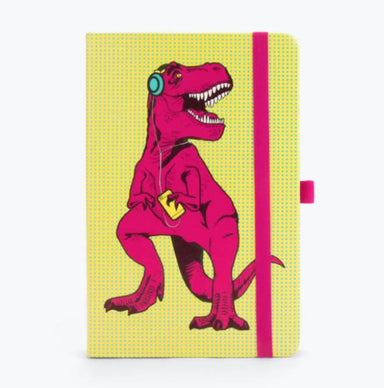 Mustard T- Rex Notebook - Magneta Notebooks The Planet Collection