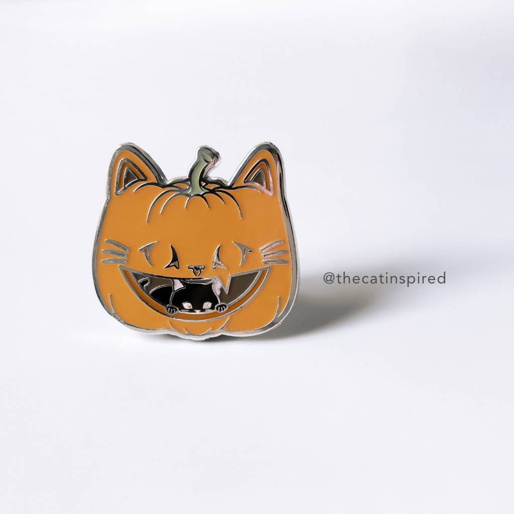 Pumpkin Cat Pin - Brooches - The Cat Inspired - Naiise