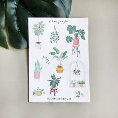 Urban Jungle | Sticker sheet - Stickers - Papercranes Design - Naiise