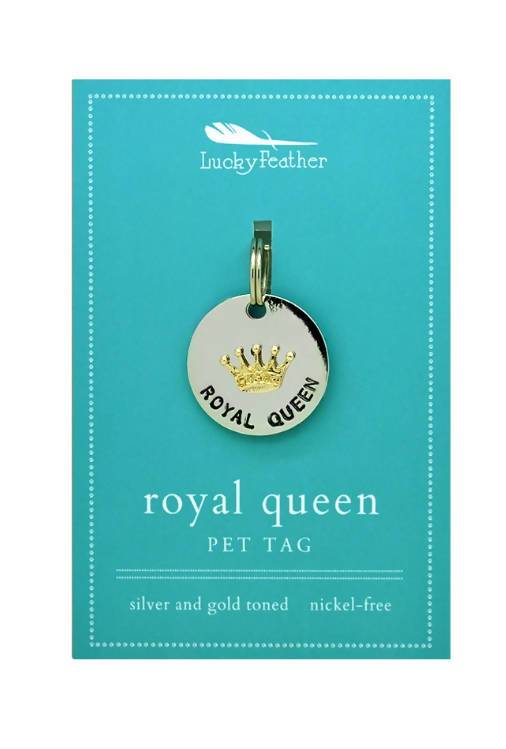 Lucky Feather - Royal Queen Pet Tag - Pet Accessories - The Planet Collection - Naiise