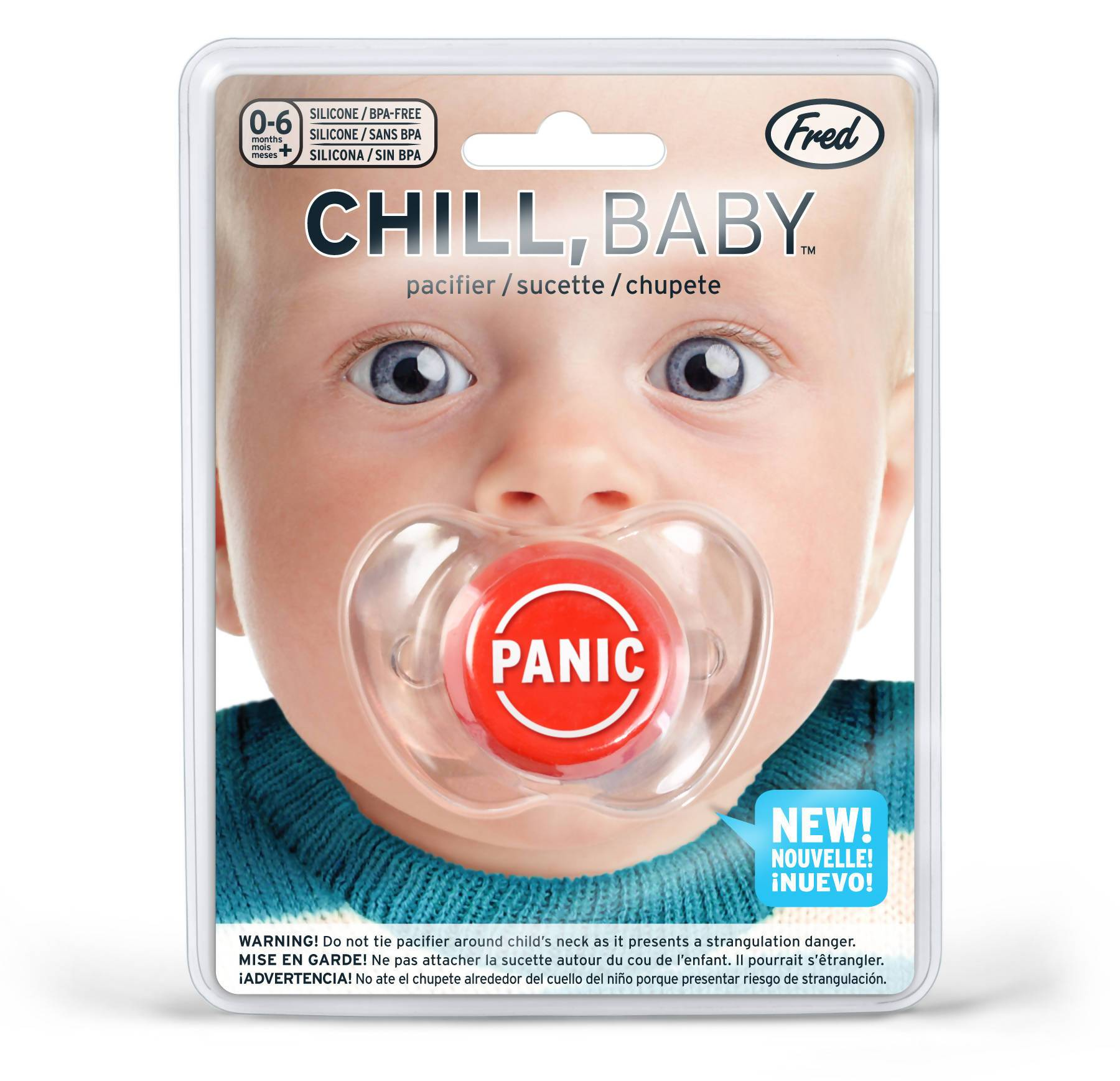Fred Chill Baby - Pacifier (Panic) - Baby Accessories - The Planet Collection - Naiise