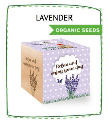 Ecocubes Feel Green Lavender - Relax and Enjoy Your Day Plants The Planet Collection