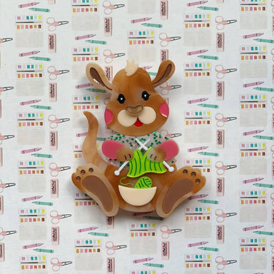 Kellie the Knitting Kangaroo - Brooches - She Loves Blooms - Naiise