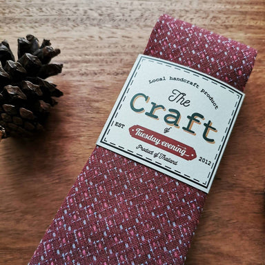 The Craft Red Mulberry Grey with Stitchy Dot Necktie - Ties - Tuesday Evening - Naiise
