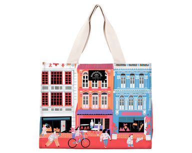 "SG Shophouse Travel Tote Bag Local Tote Bags Chalo B029 Multi 16 3/4"" Wx 12"" H x 7 1/4"" D"