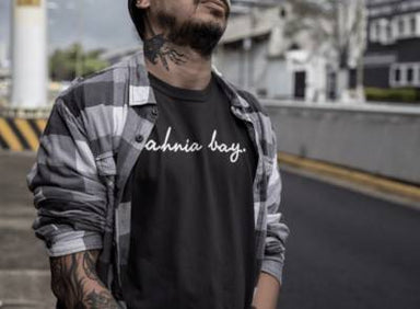 Ah Nia Bay Crew Neck S-Sleeve T-shirt - Local T-shirts - Wet Tee Shirt / Uncle Ahn T / Heng Tee Shirt / KaoBeiKing - Naiise