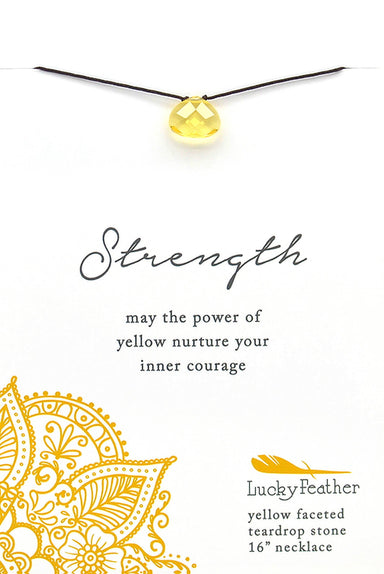 Lucky Feather - Color Power Necklace (Yellow) - Necklaces - The Planet Collection - Naiise