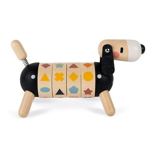 Sweet Cocoon Shapes And Colour Dog Wooden Toy Kids Toys The Children's Showcase