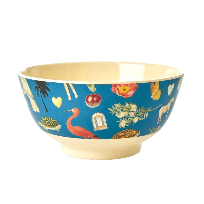 Melamine Bowl with Blue Art Print - Medium - Joëlle - Kitchenware - The Children's Showcase - Naiise