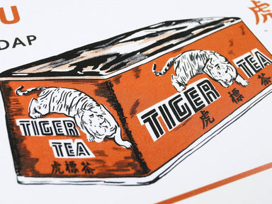 Straits Settlements Vintage Posters - Tiger Tea - Prints - The Great Indoors - Naiise