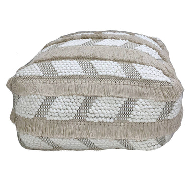 Chevron Shaggy Pouf - Poufs - The Pouf.Stop - Naiise