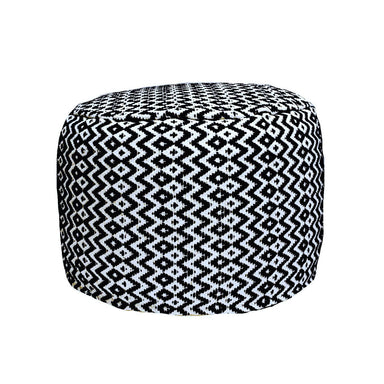Black and White Ikat Pouf - Poufs - The Pouf.Stop - Naiise