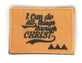 I can do all things through Christ Verse-It Velcro Morale Patch - Sticker Patches - The Super Blessed - Naiise