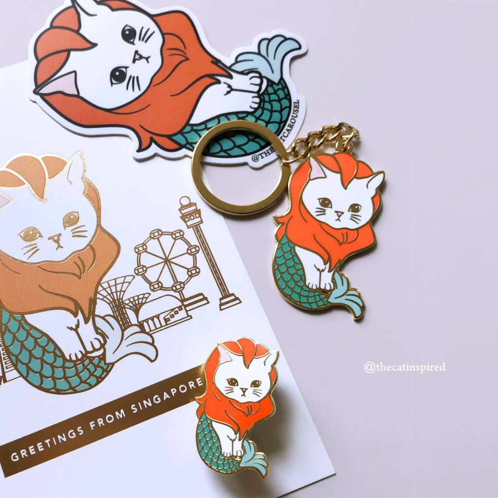 Merlion Cat Pin - Brooches - The Cat Inspired - Naiise