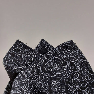 Pocket Square - ฺBlack Paisley - Pocket Squares - Tuesday Evening - Naiise