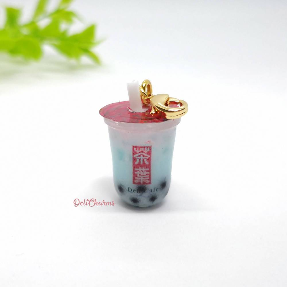 Blue Coral Bubble Tea Charm - Charms - Deli Charms - Naiise