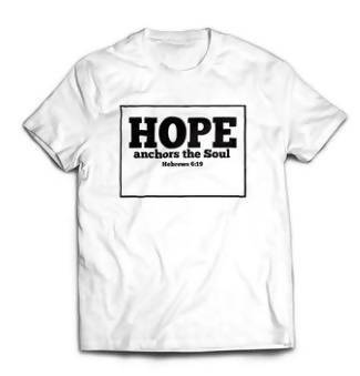 Hope Anchors the Soul - White Unisex Tshirt - T-shirts - The Super Blessed - Naiise