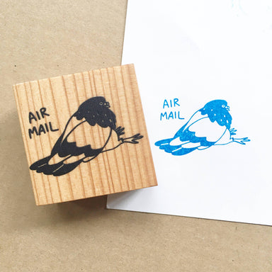 Sitting Pigeon Air Mail - Funny Clear Jelly Rubber Stamp Rubber Stamps Ping Hatta. Studio