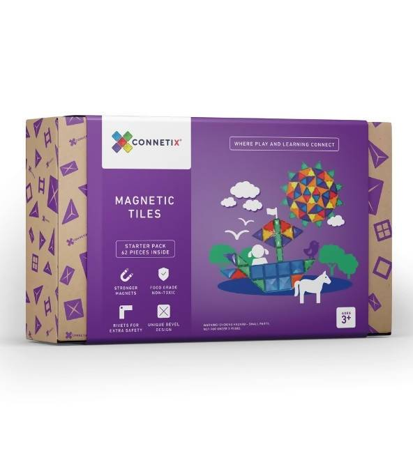 Connetix Tiles | 62 Piece Set - Kids Toys - Little Happy Haus - Naiise