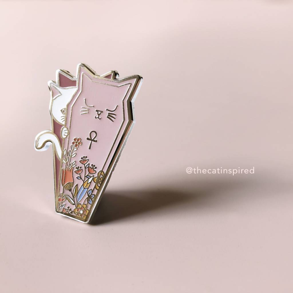 Coffin Cat Pin - Brooches - The Cat Inspired - Naiise