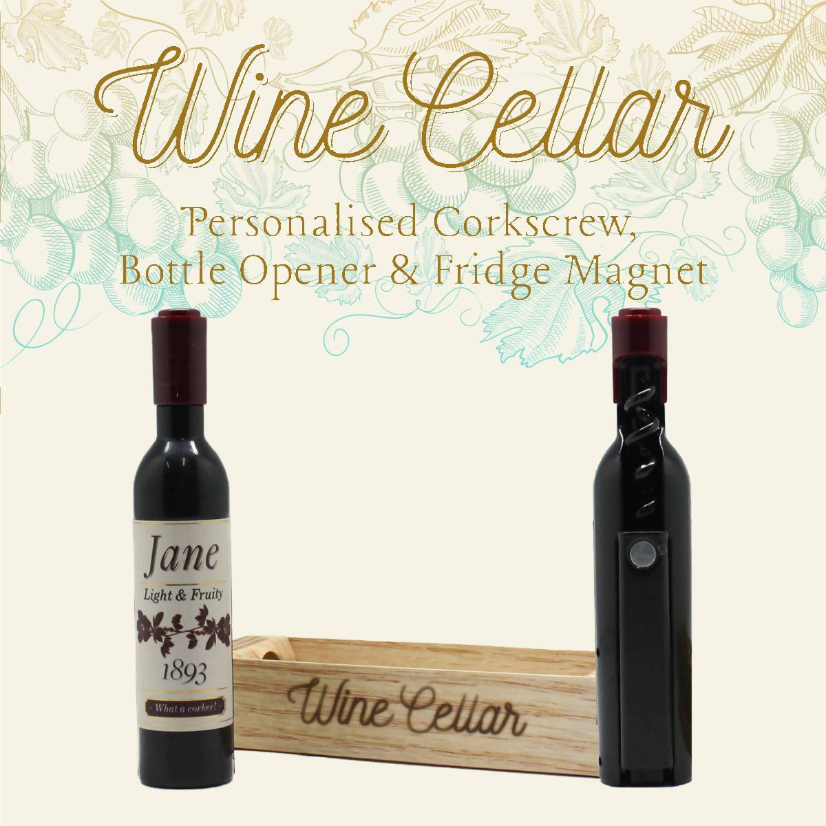 WINE CELLAR - For Wine Lover : Jane - Bottle Openers - La Belle Collection - Naiise