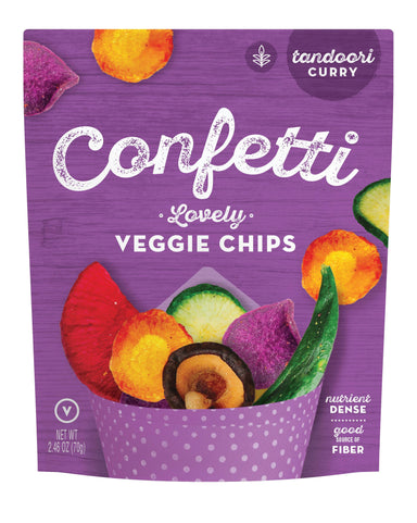 Confetti Snacks - Vegetables/Mushrooms Chips Snacks Confetti Snacks Confetti Lovely Vegetable Chips - Tandoori Curry