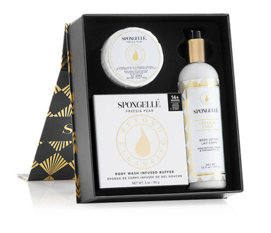 Boxed Flower Gift Set | Freesia Pear - Gift Sets - Spongellé - Naiise