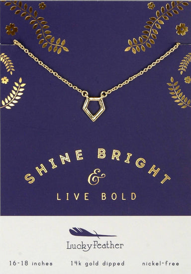 Lucky Feather - Shine Bright & Live Bold Necklace - Necklaces - The Planet Collection - Naiise