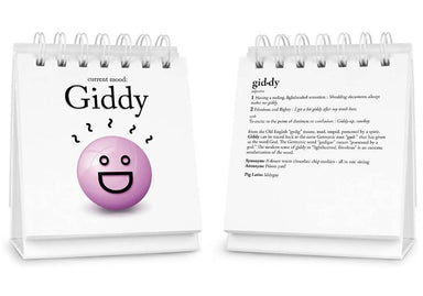 Fred - Daily Mood Desk Flipchart - Desk Signs - The Planet Collection - Naiise