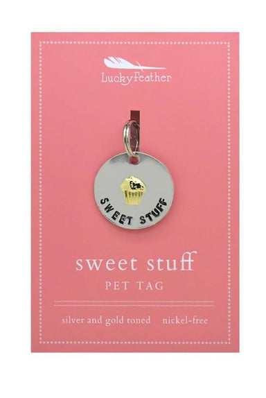 Lucky Feather - Sweet Stuff Pet Tag - Pet Accessories - The Planet Collection - Naiise