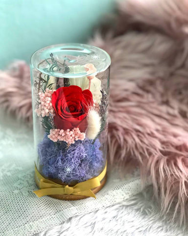 Floral Dome - Red Hot! (Valentine's Day) - Dried Flowers - Floradise Studio - Naiise