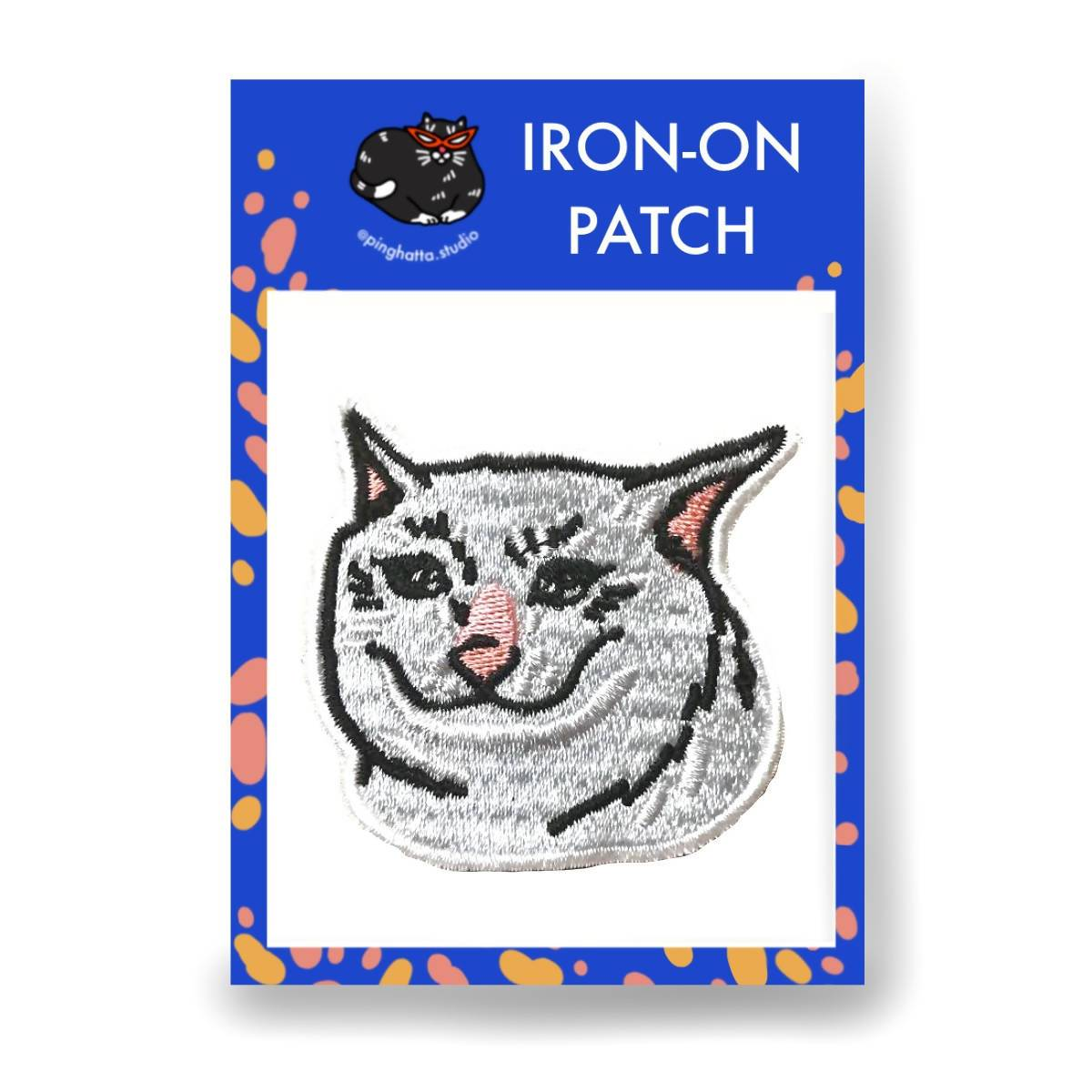 Sad Cat Meme Iron-on Patch - Iron On Patches - Ping Hatta. Studio - Naiise