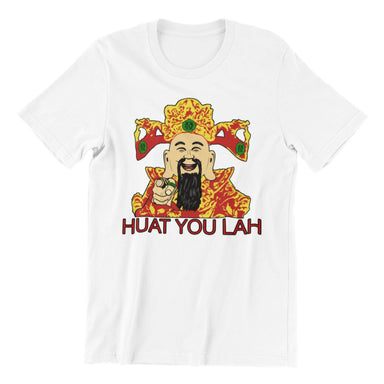Huat You Lah Cai Sheng Ye Crew Neck S-Sleeve T-shirt - Local T-shirts - Wet Tee Shirt / Uncle Ahn T / Heng Tee Shirt / KaoBeiKing - Naiise