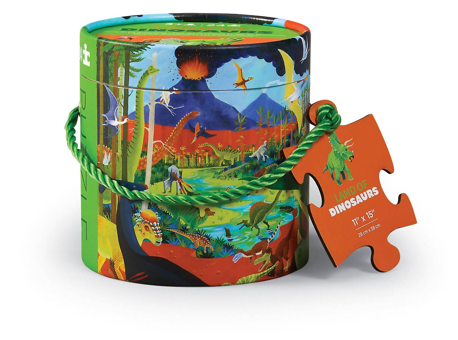 24pc Mini Canister Puzzle - Land of Dinos - Kids Puzzles - The Children's Showcase - Naiise