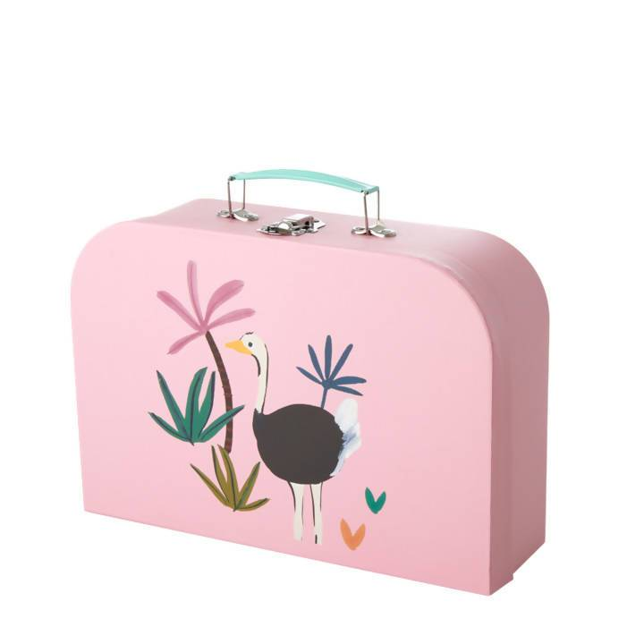 Girls Kids Cardboard Suitcase - Jungle Animals large - Cardboard Suitcases - The Children's Showcase - Naiise