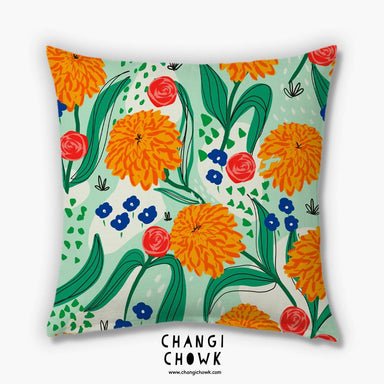 Cushion Cover - Marigold blooms - Cushion Covers - Changi Chowk - Naiise
