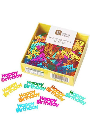 RAINBOW HAPPY BIRTHDAY FOIL SCATTER (22G) PARTYWARE The Children's Showcase