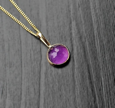 Amethyst 14K Gold Pendant Necklace - Necklaces - SaruchiRJewellery - Naiise