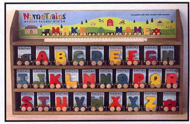 Maple Landmark Magnetic NameTrain Baby Gifts After Organic