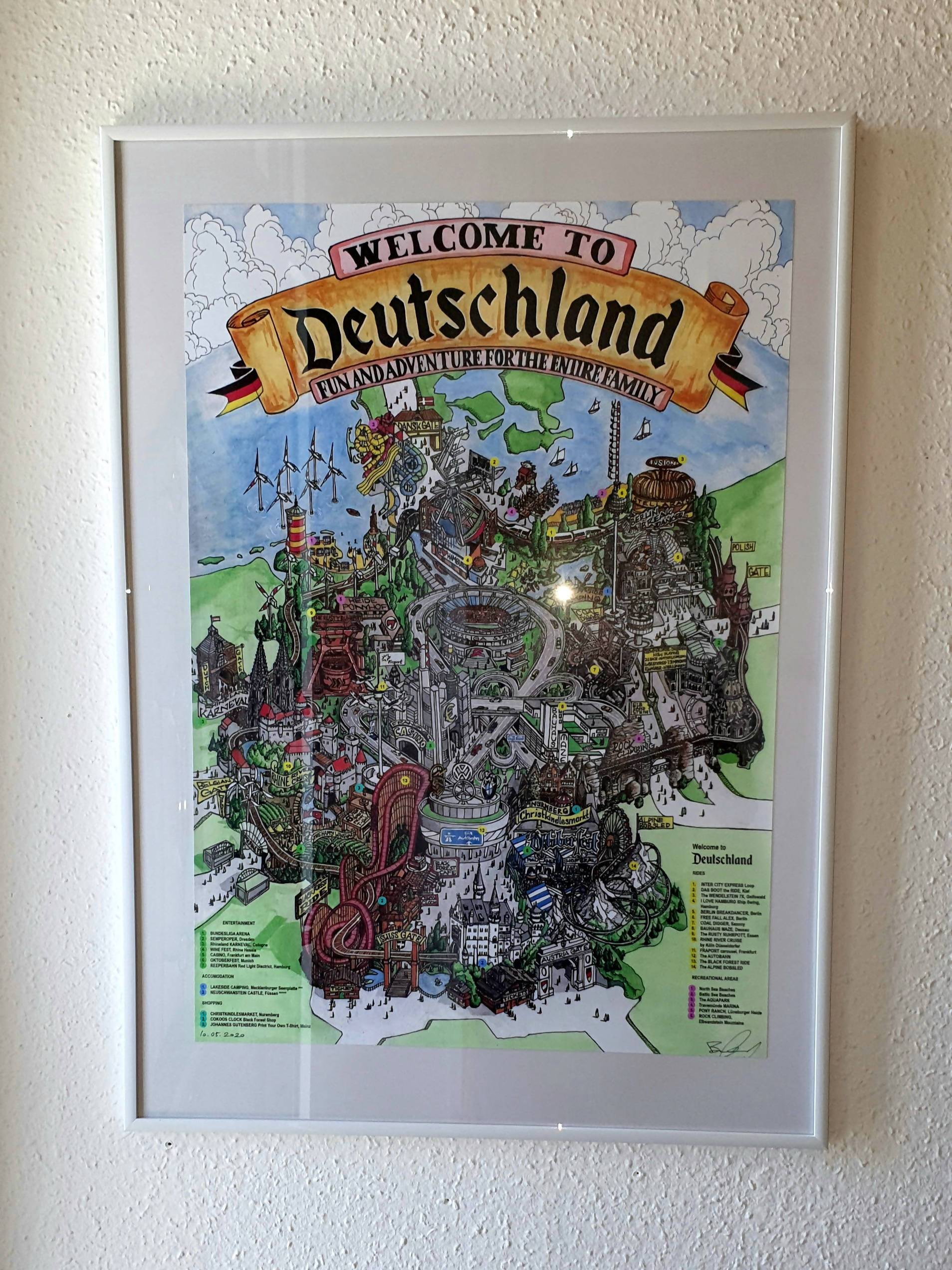 Welcome to Deutschland -Concept Master Plan of the Ultimate Theme Park about Germany, Poster - Posters - FunAndAdventureArt - Naiise