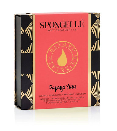 Boxed Flower Gift Set | Papaya Yuzu - Gift Sets - Spongellé - Naiise