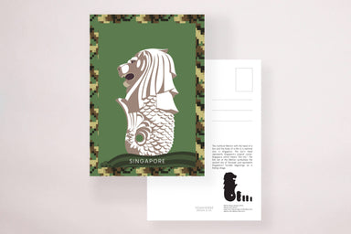 Army Merlion Postcard - Local Postcards - YOUNIVERSE DESIGN - Naiise