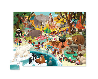 48-pc Puzzle Day at the Museum - Zoo - Kids Puzzles - The Children's Showcase - Naiise