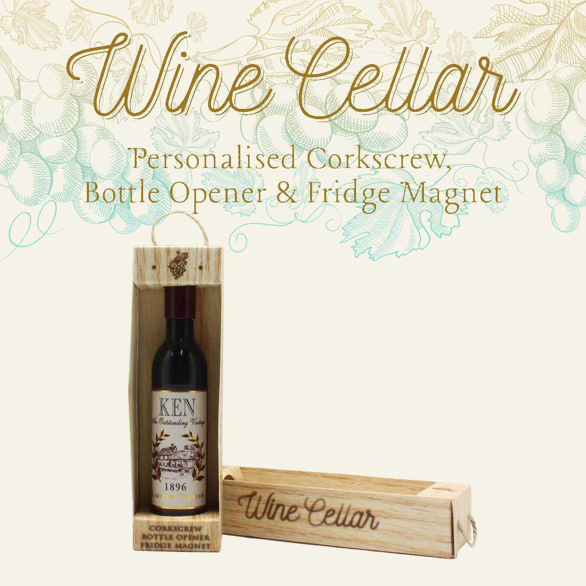 WINE CELLAR - For Wine Lover : Ken - Bottle Openers - La Belle Collection - Naiise
